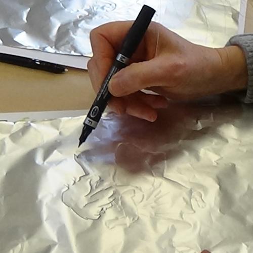 Atelier expérimental autour du papier aluminium